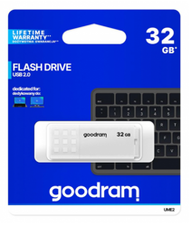 GOODRAM 32GB UME2 odczyt 20MB/s USB 2.0 biały