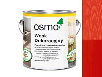 OSMO 3104 wosk dekoracyjny OGNISTY CZERWONY 0,375L