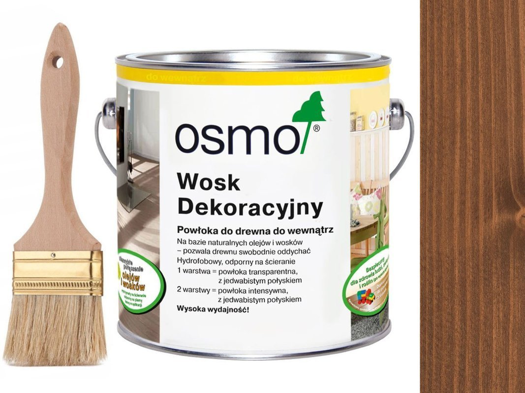 OSMO 3138 wosk dekoracyjny KOLOR MAHOŃ 25L