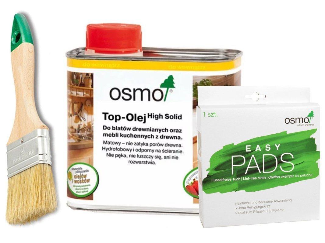 OSMO TOP olej do BLATÓW 3058 + EASY PADS + PĘDZEL